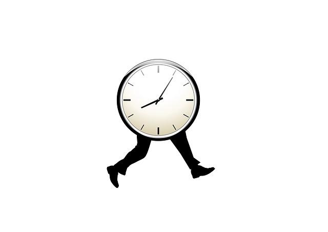 Eine rennende Uhr mit Auswirkungen