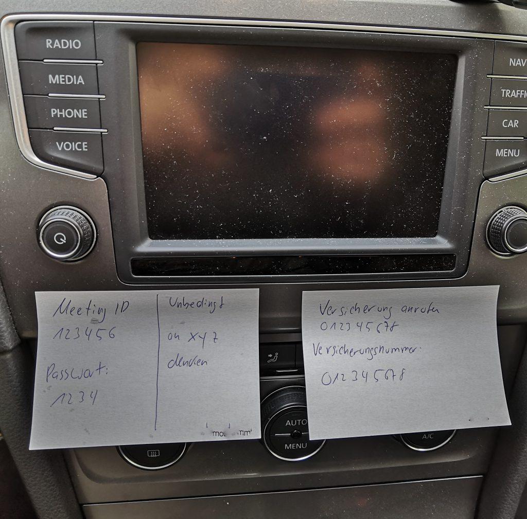 Beispiel ToDo Liste fürs Auto